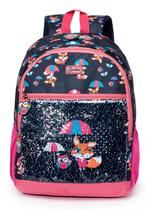 Mochila de costas spector raposa escolar infantil meninas -