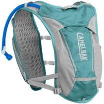 Mochila de Hidratação Camelbak Circuit Vest Feminina 1,5 Litros Trail Running Azul com Cinza -