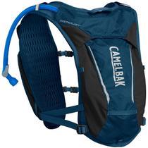 Mochila de Hidratação Camelbak Circuit Vest Feminina 1,5 Litros Trail Running Azul com Preto -