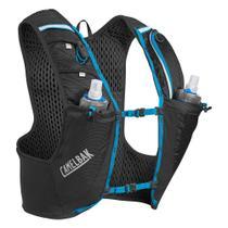 Mochila de Hidratação Nano Vest S CamelBak Preto para Ciclismo + 2 Garrafas -
