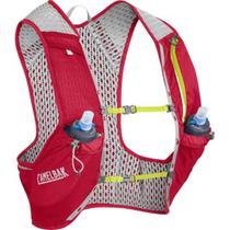 Mochila de Hidratação Nano Vest S CamelBak Vermelho para Ciclismo + 2 garrafas -