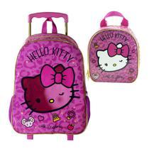 Mochila de rodinha Hello Kitty Glam com lancheira - Mochila xeryus
