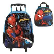 Mochila de rodinha Spider Man Haste com lancheira - Mochila xeryus