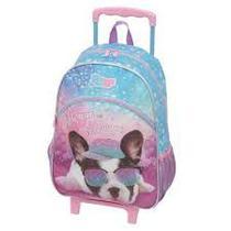 Mochila de rodinhas G Pack Me Puppy feminina - Pacific
