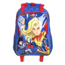 Mochila de Rodinhas Infantil DMW Escolar Rising Secret Warriors Masculina