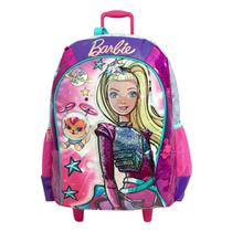 Mochila de Rodinhas Sestini Infantil Barbie Aventura nas Estrelas Rosa -