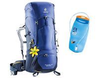 Mochila Deuter Feminina Aircontact Lite SL 35 Litros Azul + Refil De Hidratação 3 Litros -