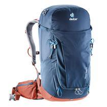 Mochila Deuter Trail Pro 32 Litros Com Capa De Chuva Azul -