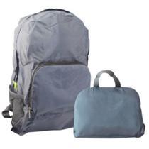 Mochila dobrável impermeavel escola trabalho viagem academia alça ajustável bolsos portatil cinza - Kangur