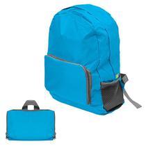 Mochila dobrável impermeavel kangur escola, trabalho, passeio viagem e bolsos compactapara azul -