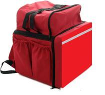 Mochila entrega c/isopor bolsa, bag c térmico superior, moto entrega lanche Ifood app pizza - LAROTTI EQUIPAMENTOS