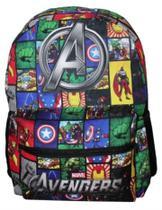 Mochila Escolar Avengers Vingadores Espaçosa Linda Reforçada - Poke