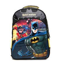 Mochila Escolar Batman Bat Squad Grande - PRETA - Xeryus