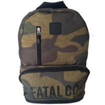 Mochila Escolar Camuflada FATAL 5 Compartimentos Reforçada FTM1800900 -