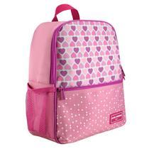 Mochila Escolar - Coração Rosa Jacki Design -