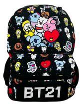 Mochila Escolar De Costas Banda Bts Bt21 Kpopper Coreanos -