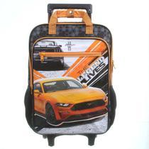 Mochila Escolar de Rodinha Ford Mustang Max Super 11661 - Dmw