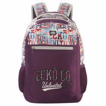 Mochila Escolar Ecko Unltd Girl Lilas Emye107601 - Ecko girl