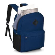 Mochila Escolar Faculdade Notebook Switz Básica Azul -