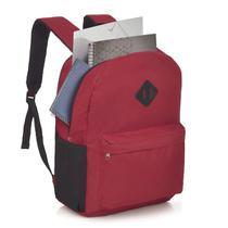 Mochila Escolar Faculdade Notebook Switz Básica vermelha -