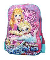 Mochila escolar feminina juvenil infantil m2674 princess on ice - Vozz