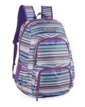 Mochila Escolar Feminina Listrada Notebook Cores Luxcel -