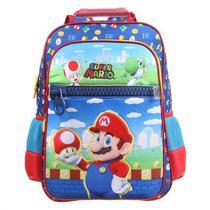 Mochila Escolar G Costas Super Mario Nintendo Dmw 11742 -