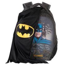 Mochila Escolar Infantil Batman Night C/ Capa 16 Xeryus 4962 -