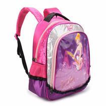 Mochila Escolar Infantil Feminina DL0153 Rosa Pequena - Denlex