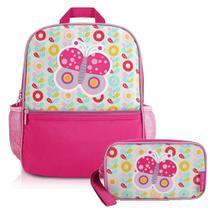 76ab6d938 Mochila Escolar Infantil Feminina + Estojo - Jacki Design
