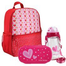 fda556c05 Mochila Escolar Infantil Feminina + Marmita + Squeeze - Jacki Design