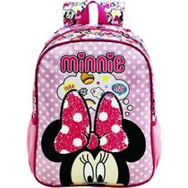 Mochila Escolar Infantil G Costas Minnie Magic Bow 8932 - Xeryus