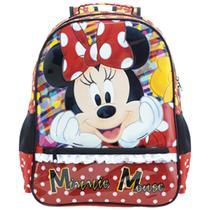 Mochila Escolar Infantil G Costas Minnie Vermelha 8922 - Xeryus