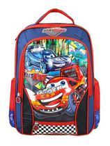 Mochila Escolar Infantil Meninos Costas Carros 5-12anos Azul - VOZZ