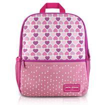 Mochila escolar Jacki Design Coleção Sapeka Coração Rosa -