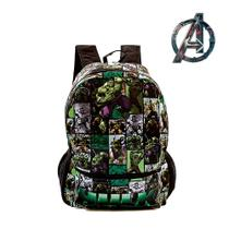 Mochila Escolar Juvenil do Incrível Hulk De Costas - Outras marcas