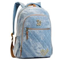 2afa9c0a1 Mochila Escolar Juvenil Feminina Seanite MJ14024 Azul Jeans - 50