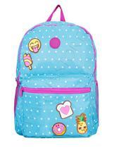 0a8a658cf Mochila Escolar Menina Juvenil Bolinhas Emoji C/ Cheirinho - Clio style