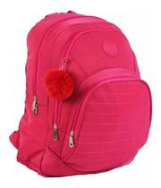 Mochila Escolar Notebook Feminina Impermeável Rosa Star Bag -