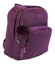 Mochila Escolar Notebook Feminina Impermeável Roxa Star Bag -