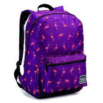 Mochila Escolar Universitária Feminina Estampa Flamingos - Fmsp