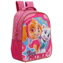 Mochila Escolar Xeryus Patrulha Canina Girl Team 16Pol Rosa -