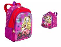Mochila Ever After High Apple White 3d Costas + Lancheira - Sestini