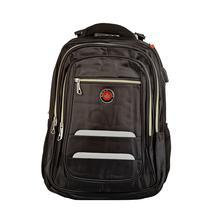 Mochila Executiva Masculina Couro Notebook Encaixe USB 25 Litros Preta Black - Under Bags