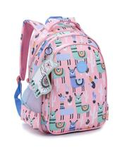 Mochila Feminina Backpack Com Chaveiro Seanite lhama -