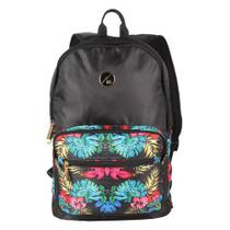 Mochila Feminina Costas Folie Hang Loose Preto Estampado
