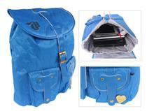 Mochila Feminina Escolar Notebook Capricho Love Blue Azul -