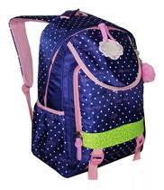 Mochila Feminina Escolar Notebook Juvenil Infantil Cores H7 Azul - Regal