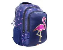 Mochila Feminina Flamingos Azul Infanto Juvenil Vozz 2020 -