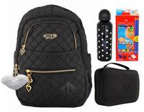 Mochila Feminina Notebook Costas Escolar Juvenil Mh3172 Kit - Michele robs